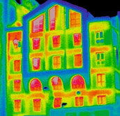 A heat image of an apartment
